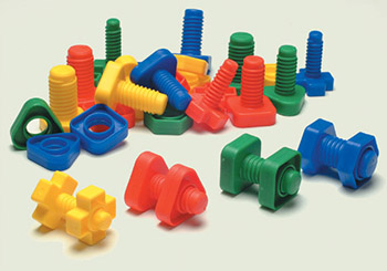 Giant Plastic Nuts and Bolts